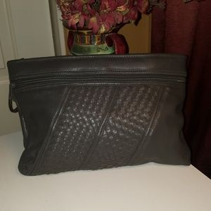 Grey Clutch Wristlet Pouch